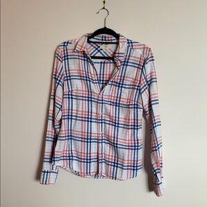 TNA 100% cotton plaid shirt